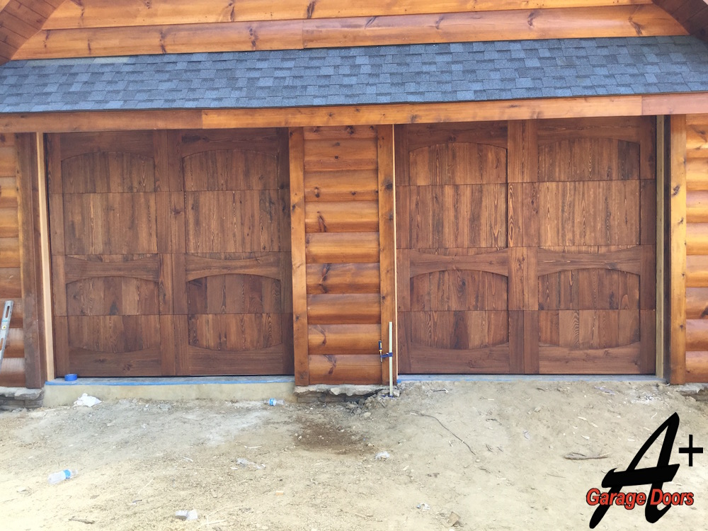 Lake wylie residential custom wood garage door installation for Garage door installation jobs