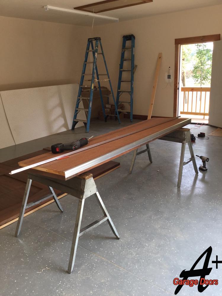 New Construction Residential Garage Door Custom Wood Installation