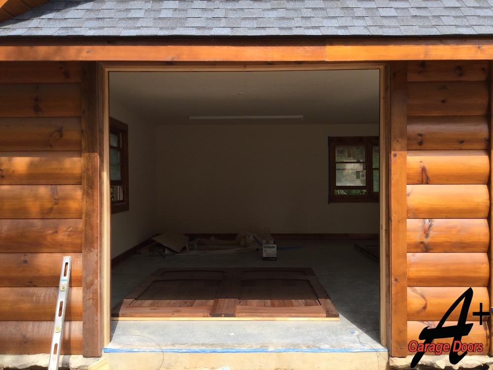 South Carolina Lake Wylie Custom Wood Garage Door