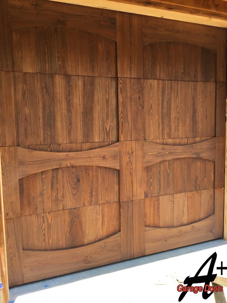 Lake wylie residential custom wood garage door installation for Residential wood doors