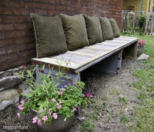 Garage Door Panel Bench A Plus Recycle