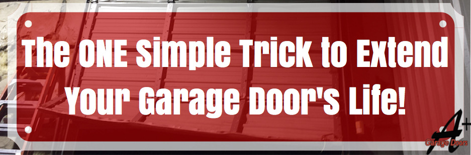 The ONE Simple Trick to Extend Your Garage Door's Life!