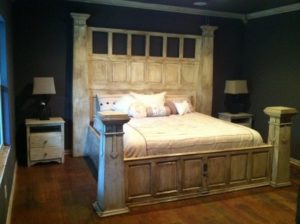 Recycled Garage Door Bed Frame