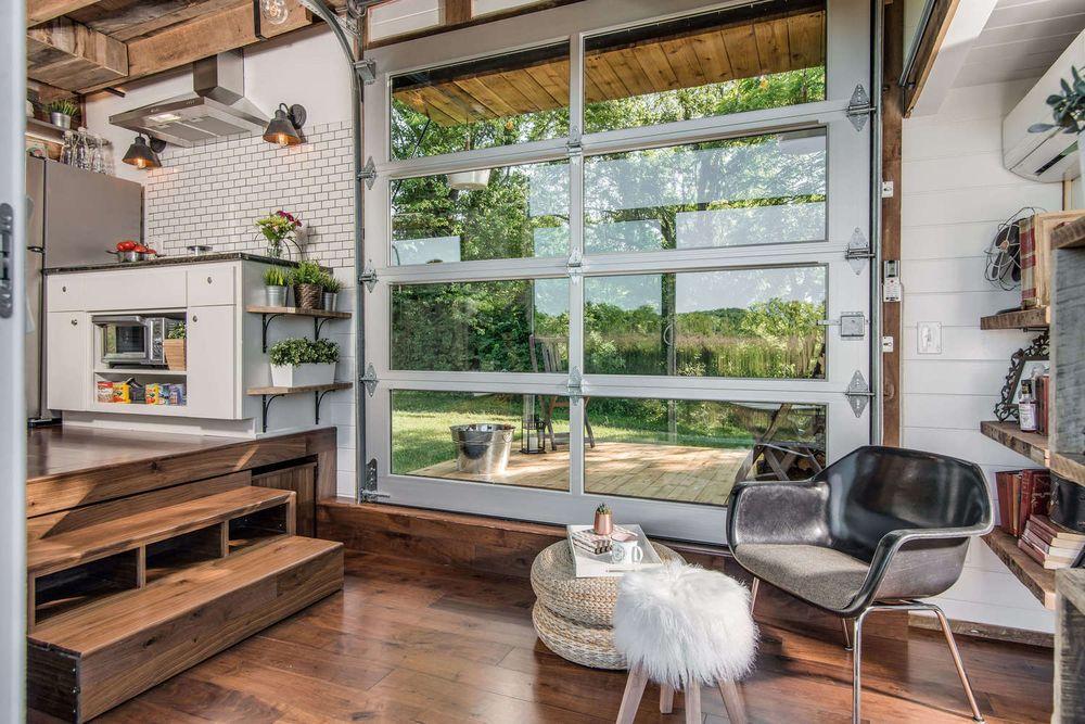 Tiny Home Alpha Glass and Aluminum Garage Door
