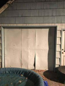 Ugly Broken Residential Garage Door