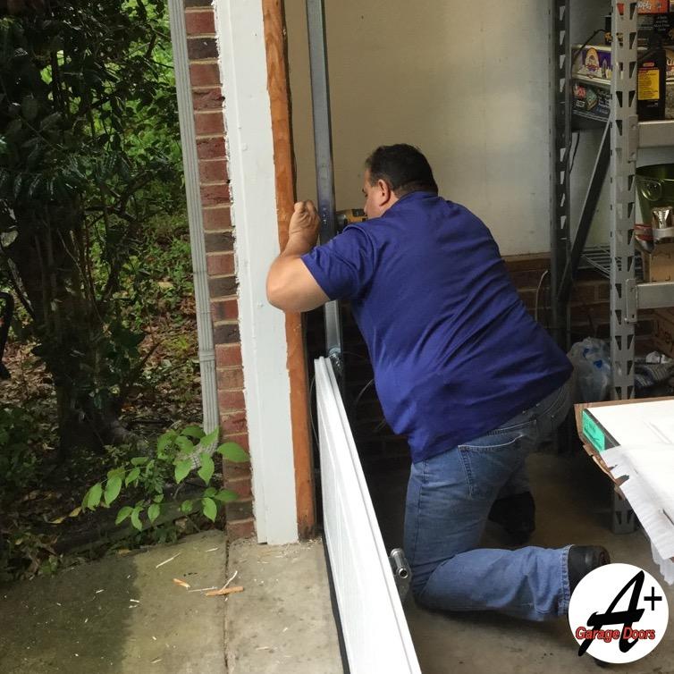 Installaing New Garage Door Track Guide Rail