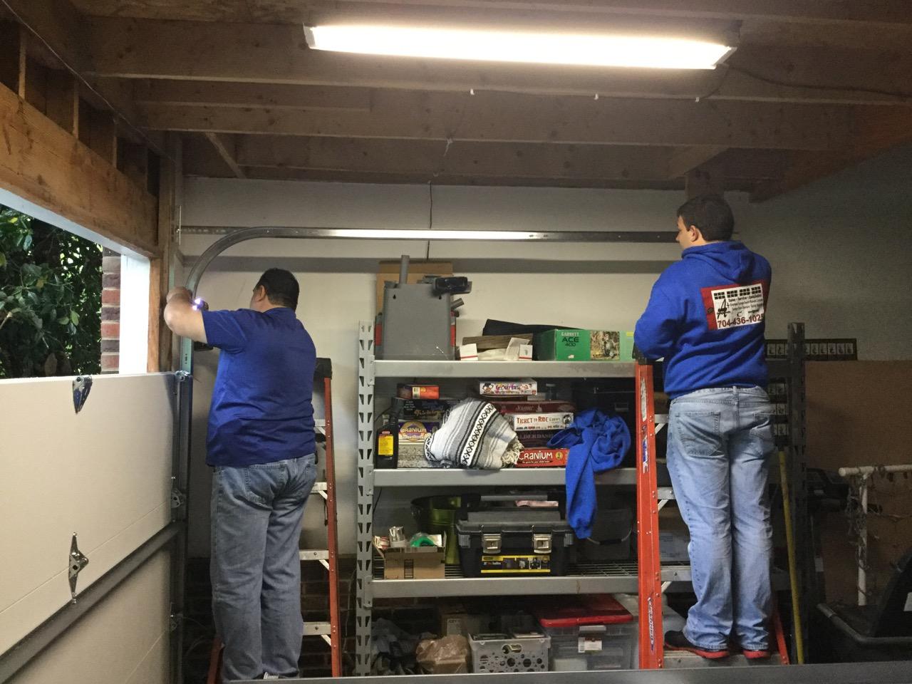 Residential Garage Door New Track Installation A Plus
